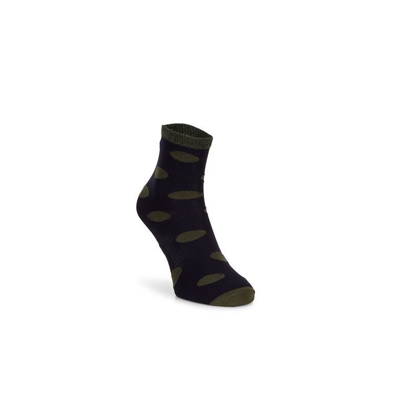 Contrast Dotted Socks Wom (Blue)