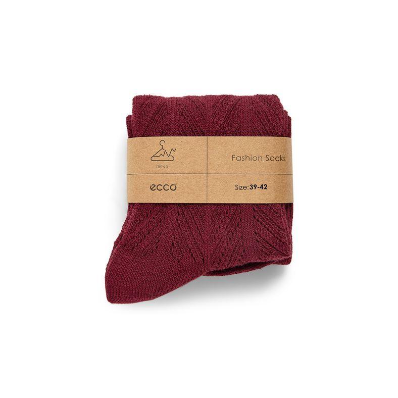 Herringbone Socks Women's (أحمر)