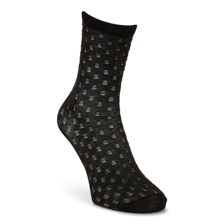 Dotted Socks Women's (أسود)