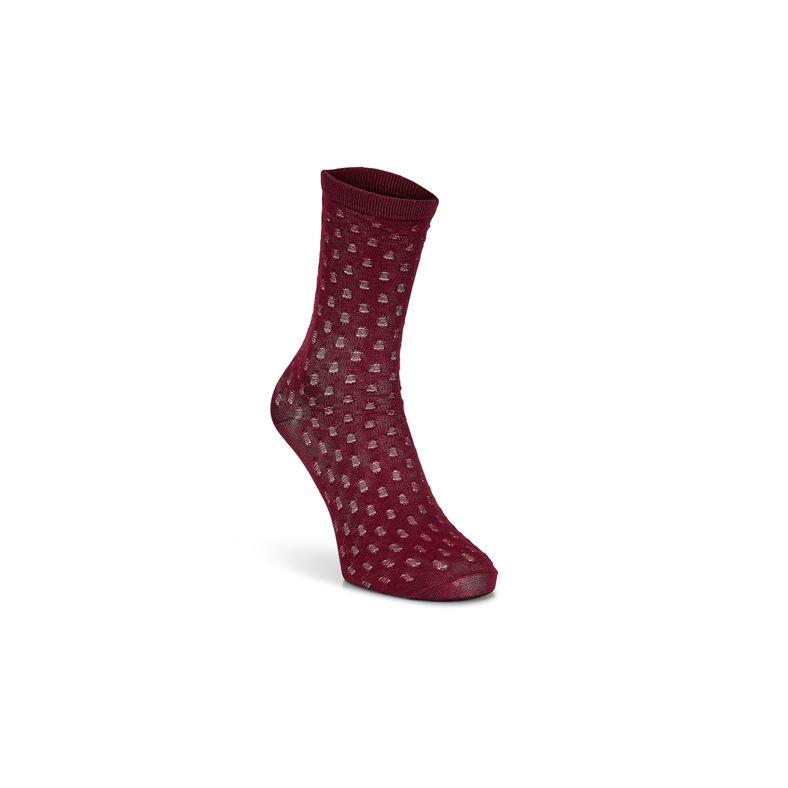 Dotted Socks (أحمر)