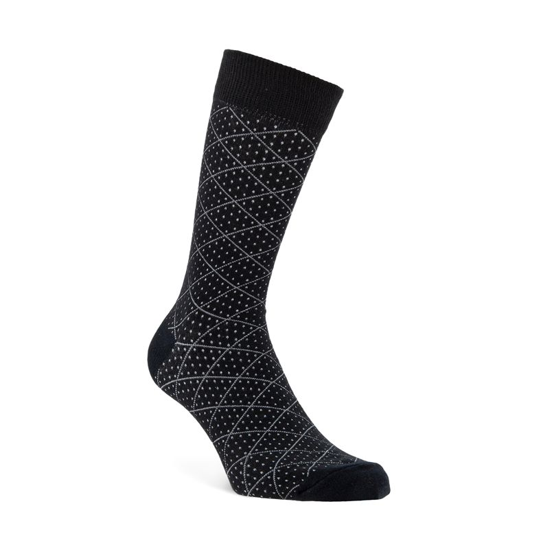 Quadratic Socks (أسود)