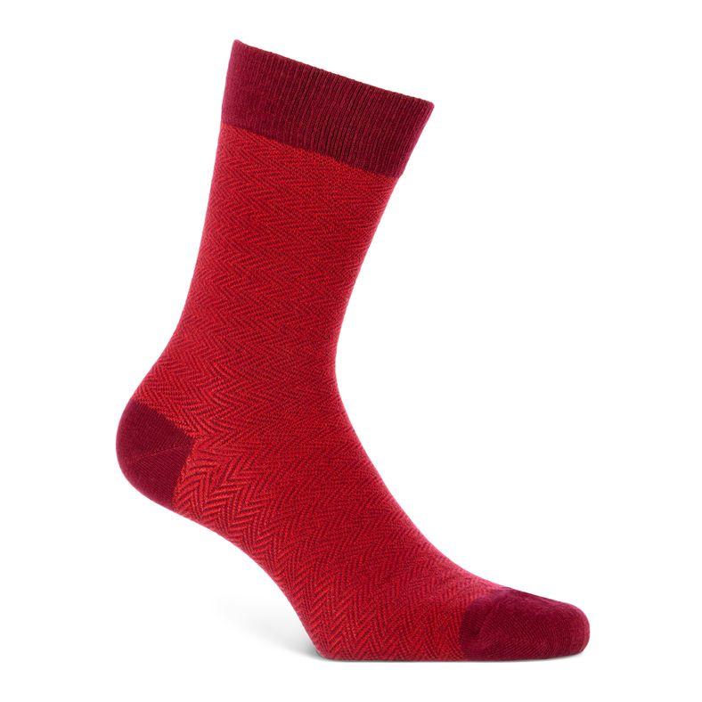 Herringbone Socks Men's (أحمر)