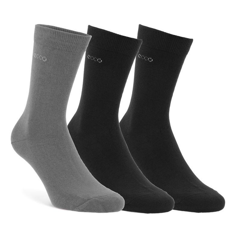 Socks (3-pack) Mens (أسود)