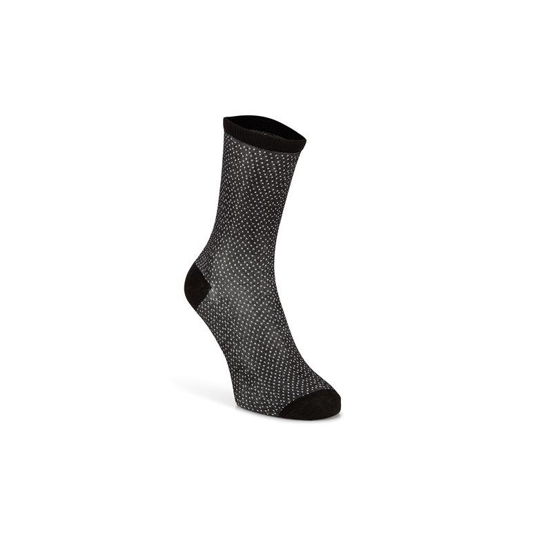 Micro Dotted Socks W (Negro)