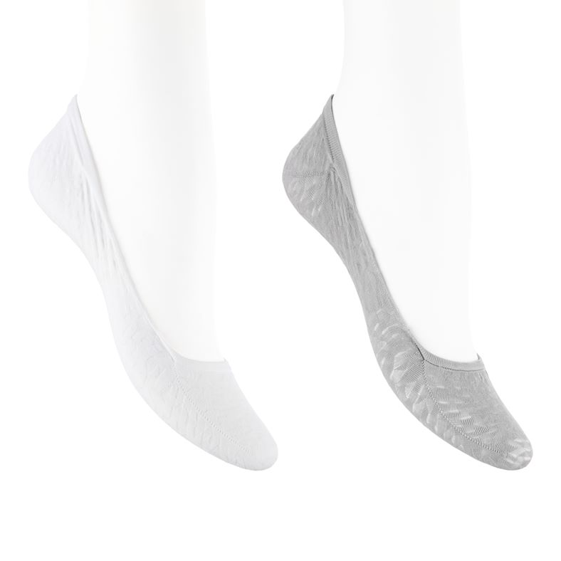 ECCO Footies (2 Pairs Pack) (Grey)