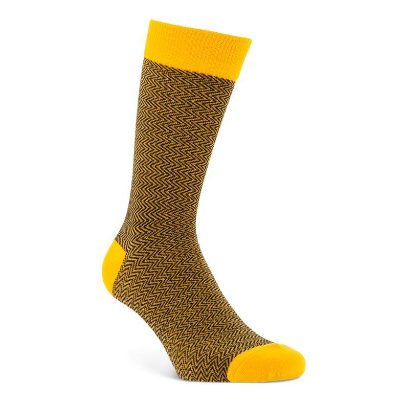 Herringbone Socks Men's (Orange)